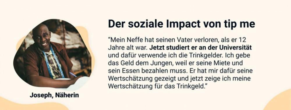 tip me - Der soziale Impact