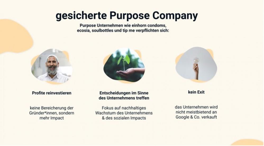 tip me - gesicherte Purpose Company