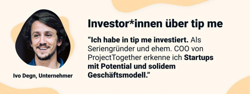 InvestorInnen über tip me